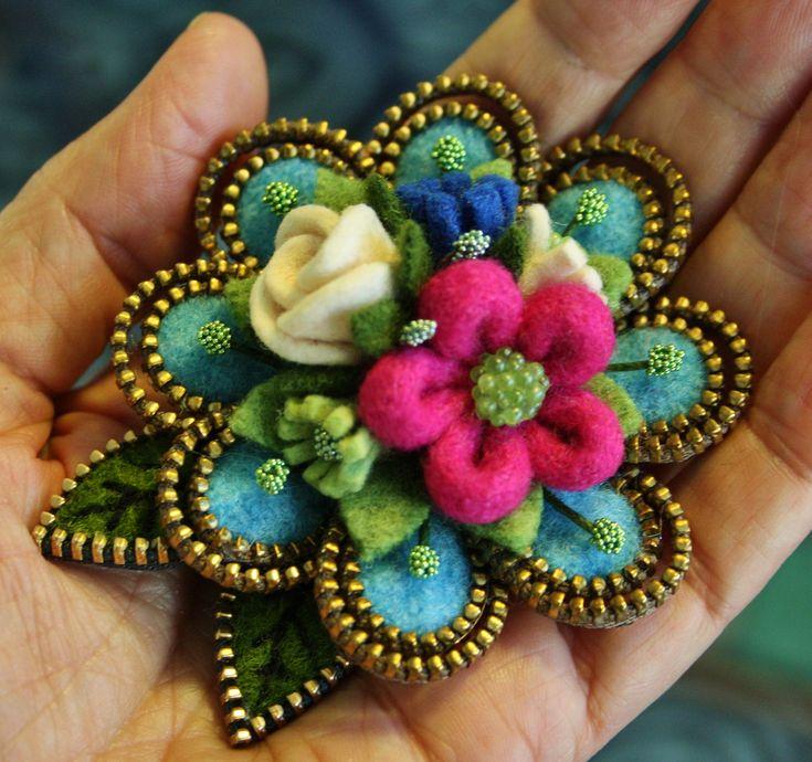 Pretty wool flowers | Flickr - Photo Sharing!