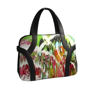"""Unique #bag by www.arts2be.com #fashion #bags #andreadesign black #leather with the #art """"Urban Jungle"""" by #isabellepelletane"""