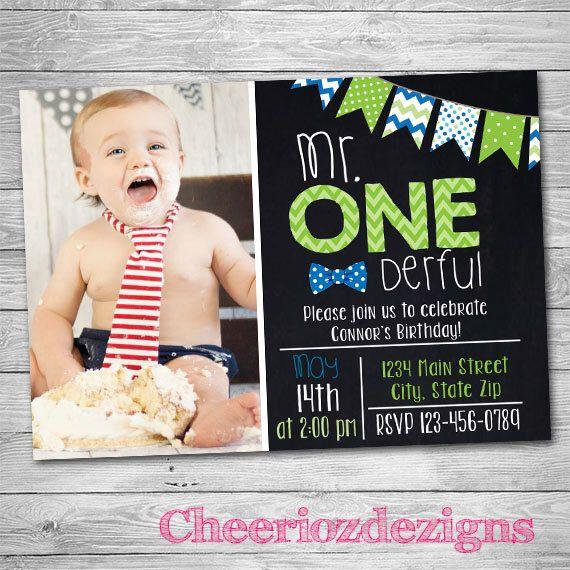 Mr. One-deful First Birthday Invitation- Bowtie Birthday Party Custom- First Birthday Party Onederful - Printable- Digital File by CheeriozDezigns on Etsy https://www.etsy.com/listing/293659717/mr-one-deful-first-birthday-invitation