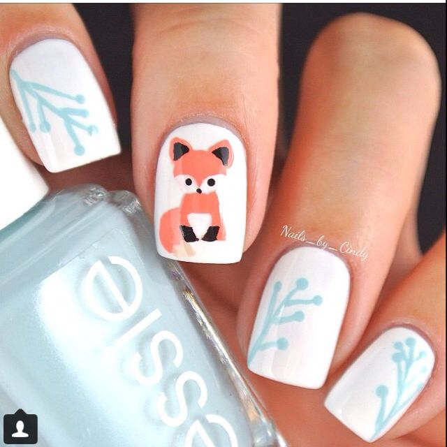 140 best characteranimal nail art images on pinterest enamels fox nails by nailsbycindy prinsesfo Choice Image