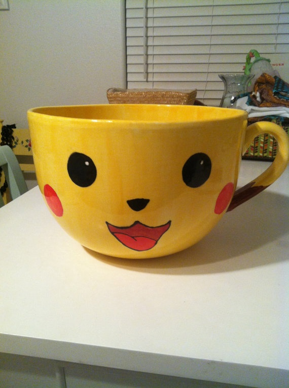 Giant Pikachu Bowl by DarlingsCollections on Etsy, $55.00