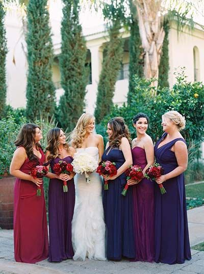 Fall Wedding Colors. Deep purples, marsala, and navy wedding color scheme.