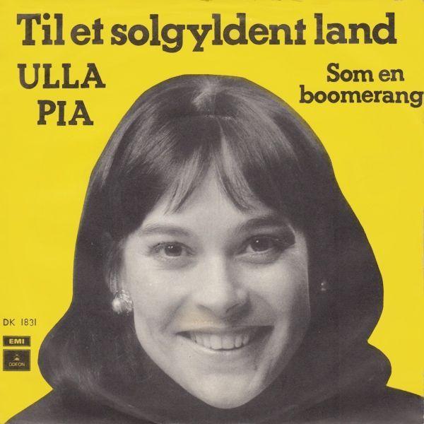 """Ulla Pia synger en cover-version af """"Bang a boomerang"""" fra Melodifestivalen 1975"""