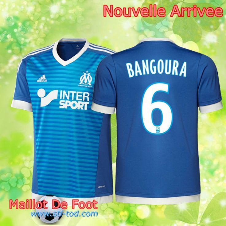 Le Nouveaux Maillot Third Marseille 2015 2016 Pas Cher Bangoura 6 Bleu  Taille