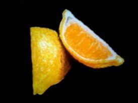 Oranges  2013  pastel on paper  25 x 17 cm