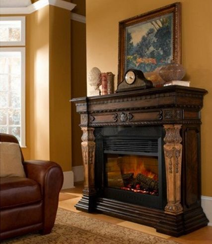 elegantly crafted rustic electric fireplaces electric