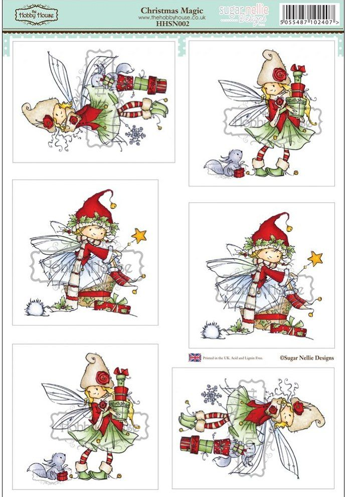 Sugar Nellie Designs die cut topper collection by the Hobby House - Christmas Magic