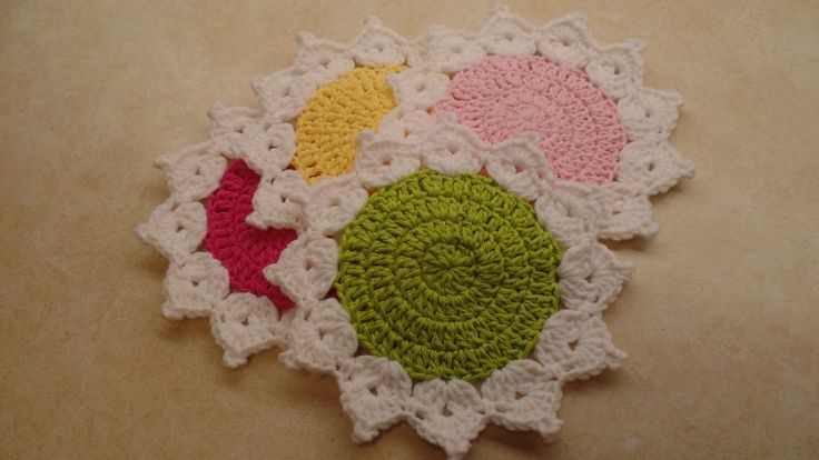How To #Crochet The Queens Crown Coaster Set Easy  #TUTORIAL #327