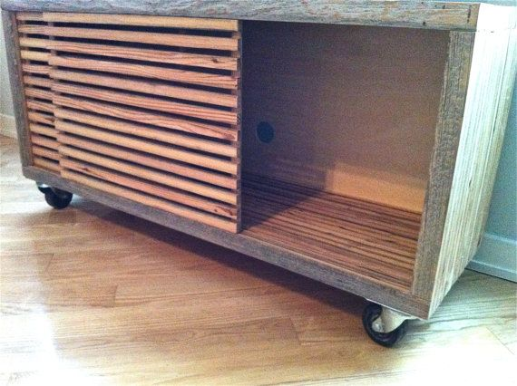 Reclaimed Wood TV Stand, Storage Unit, Media Stand with Sliding Doors, Media Console, TV Stand, Reclaimed Wood Furniture