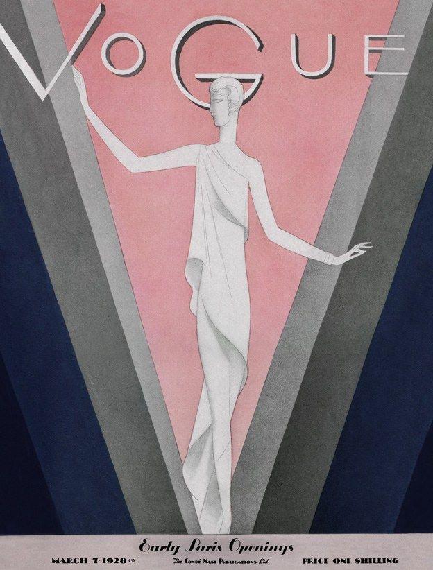 Vogue Magazine March 1928 | Cover by Eduardo Benito