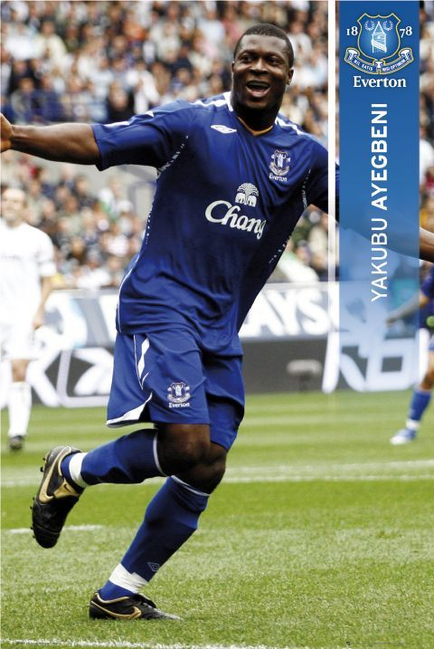 Yakubu Aiyegbeni, Everton v Fulham 8th December 2007.