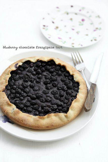 blueberry chocolate tart by julie marie craig, via Flickr