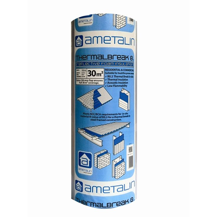 Find Ametalin 8.0 x 1350mm x 22.25m ThermalBreak 8™ Insulation at Bunnings Warehouse. Visit your local store for the widest range of building & hardware products.