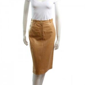 Celine Soft Lamb Leather Long Skirt Sz. Small