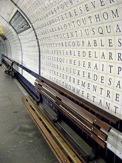 Concorde station, My favorite Paris Metro Station.