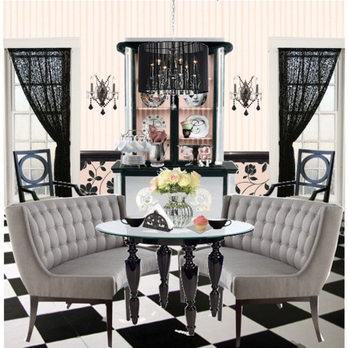 Dining Room Hollywood Regency Part 45