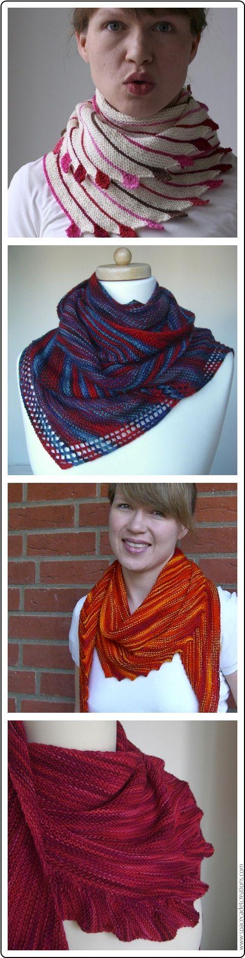 Gorgeous garter stitch shawls by Martina Behm