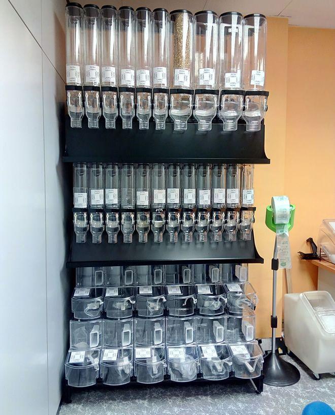 Dispensadores De Venta A Granel Gravity Bins Modelo 0001 Interiores De Tienda Diseño De Despensa Diseño De Interiores Comerciales