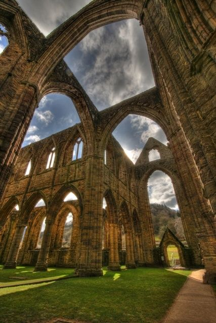 ♂ Aged with beauty old architecture Tintern Abbey in Wales