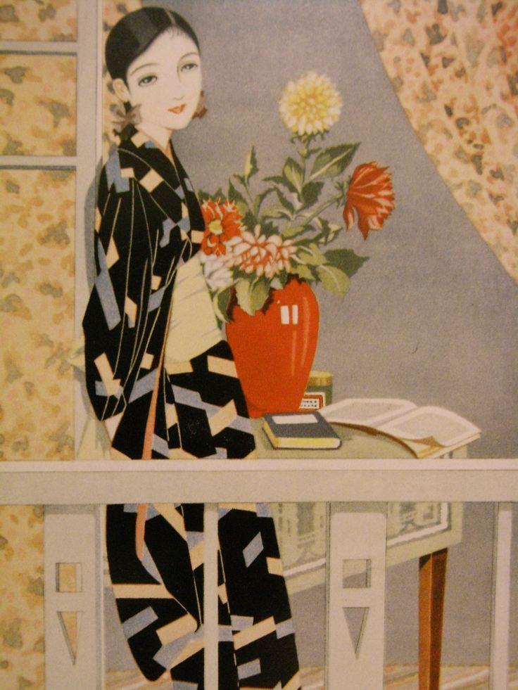 Art by Matsumoto Katsuji, 1930′s or 40′s, Japan.