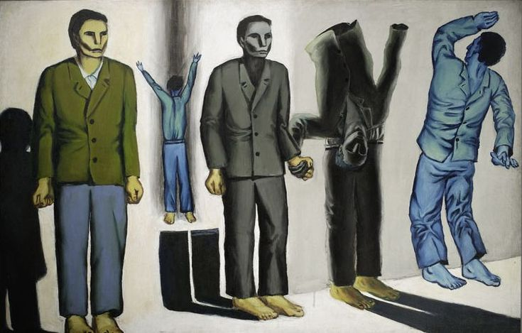 "Andrzej Wróblewski, ""Surrealist Execution"" (VIII), oil on canvas, 1949, photo courtesy of the National Museum in Warsaw"