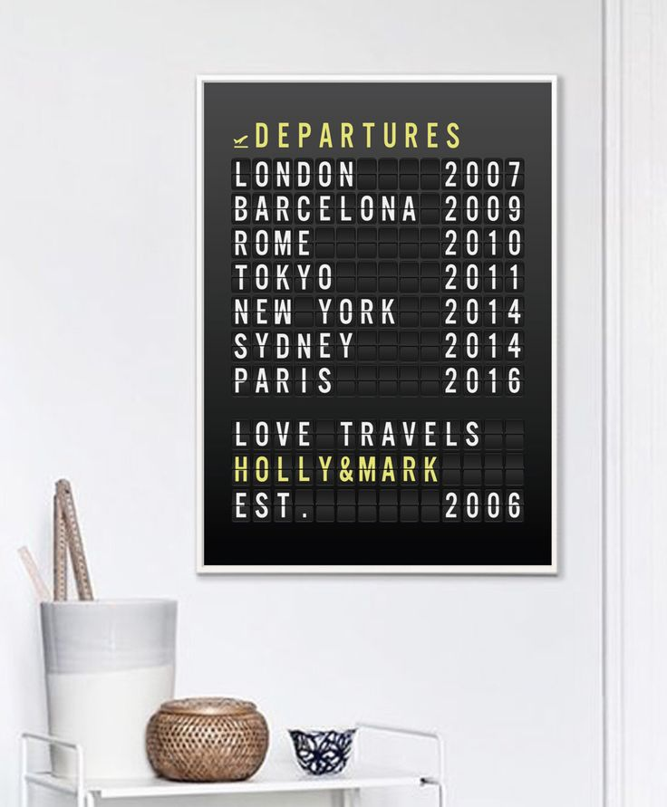 Personalized Wedding Gift, Travel Gift For Couple, Custom