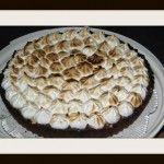 Torta di cioccolato con meringa  http://blog.cookaround.com/donut/torta-di-cioccolato-con-meringa/