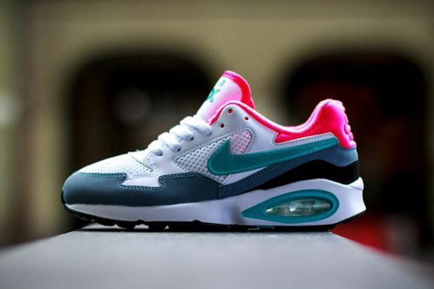 Trendy Womens Sneakers 2017/ 2018 : Nike Air Max ST GS   White / Dusty Cactus   Mango Grey   Hyper Peanut