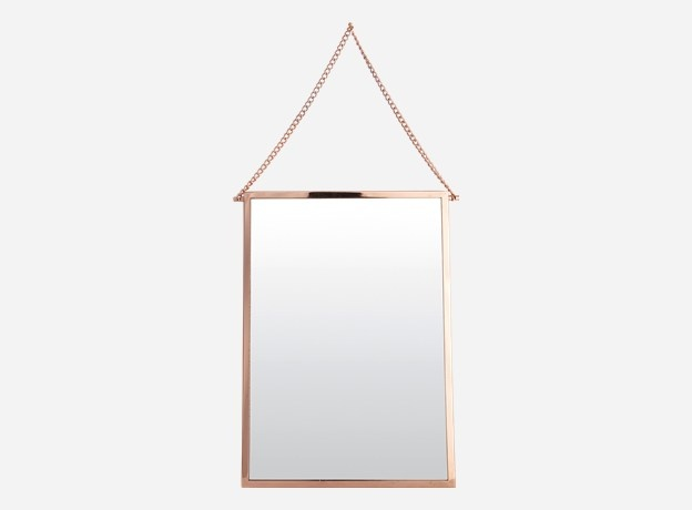 Mirror, Bolina, copper finish, 45x32 cm