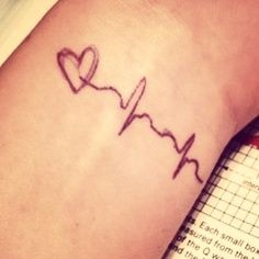 Heart pulses tattoo I find this to be greater as simple as i like