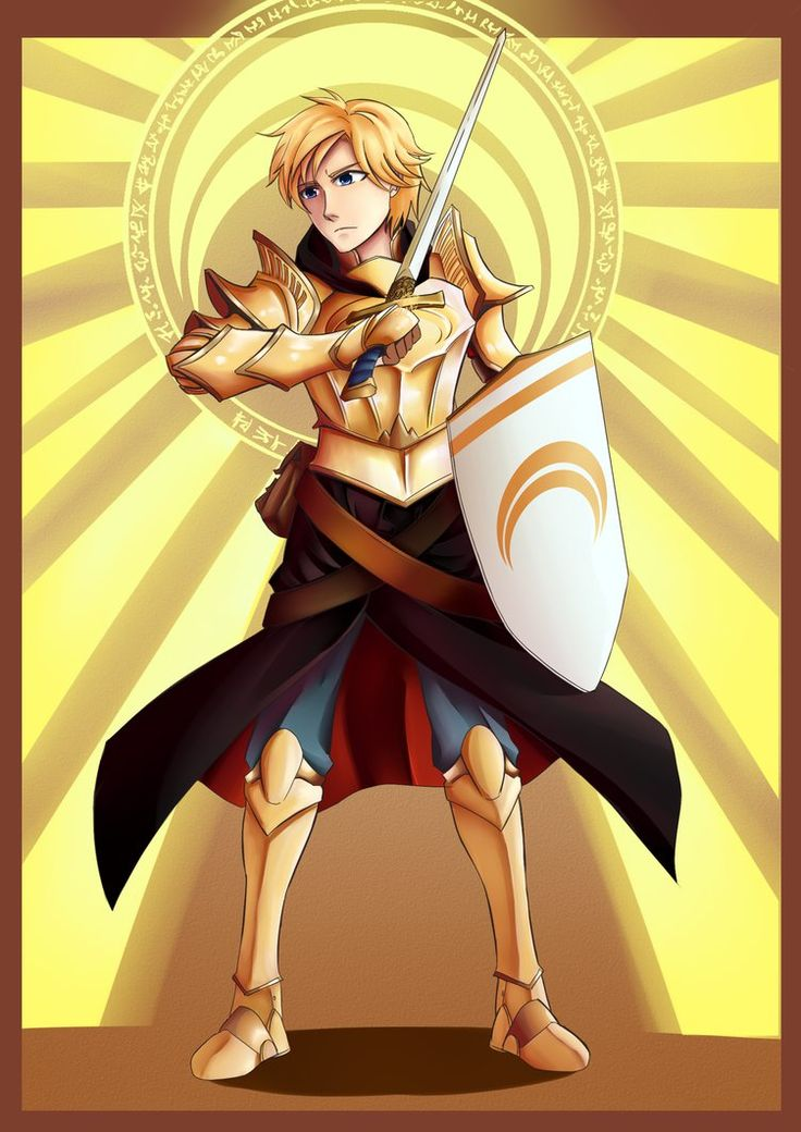 Knight of Golden Sun: Jaune Arc by ARSONicARTZ.deviantart.com on @DeviantArt
