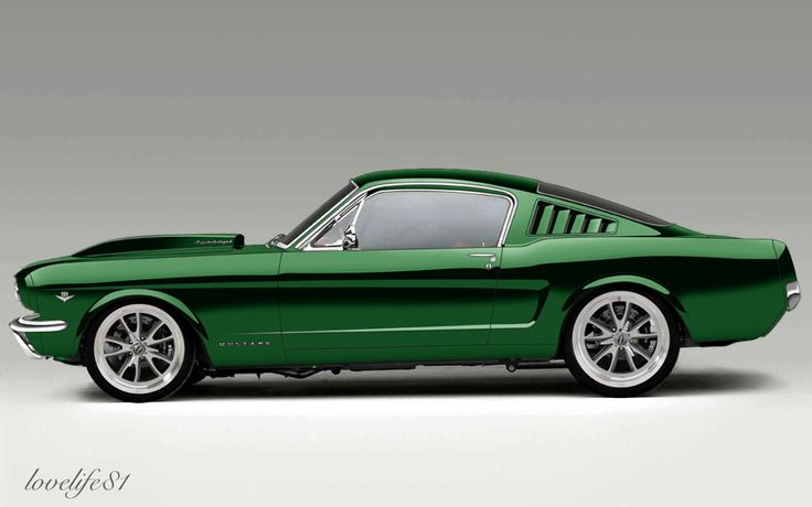 Green 65 Mustang Fastback- Alt Rims by lovelife81