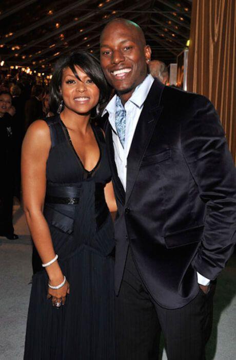 Taraji P. Henson with ex-boyfriend Tyrese Gibson...