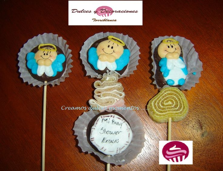 Paletas de Mini-Mamunt decorado para Baby Shower informes 2235-9160 y al 5567023311