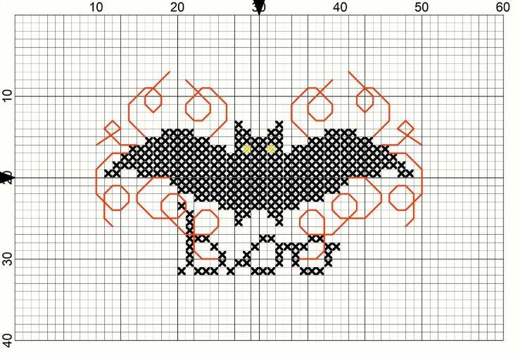 Bat Pattern: Cross Stitch Halloween Project - Crafts Unleashed