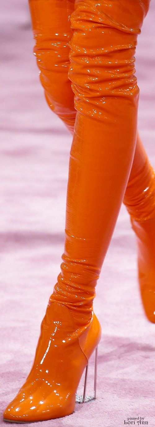 If wet-look plastic stiletto thigh boots are about to become fashionable, then I think all my birthdays have come at once