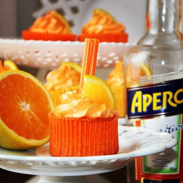 Aperol cupcakes. My oh my!