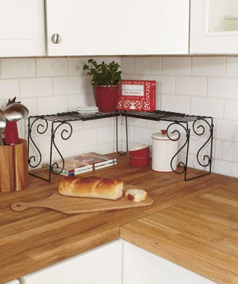Kitchen Counters Corner Shelves And Space Saver On Pinterest
