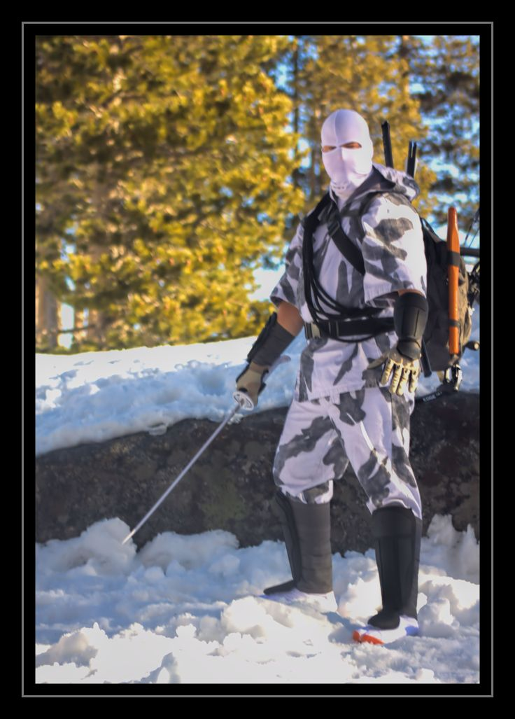 Winter Camouflage Storm Shadow with sword at the ready.  Photo By: Jacquelyn Maloy Costume and Editing By: Daren Maloy  Photo Taken at Donner Summit Rest Area 31 Dec 2016