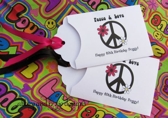 Peace Sign Party Favors by abbey and izzie designs on Etsy