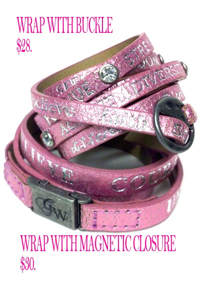 Wrap Bracelet with Magnetic Closure.