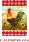 Proud Rooster Garden Flag