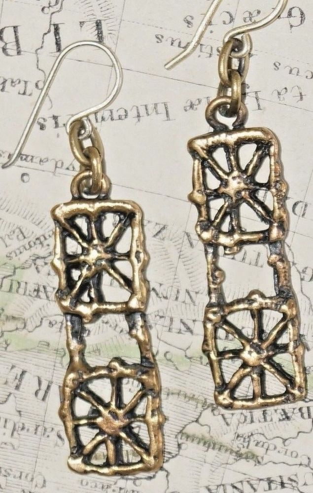 PENTTI SARPANEVA, FINLAND. Bronze Earrings. VINTAGE Design. | eBay