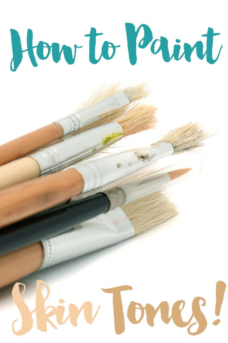 How to Mix Skin Tones with Acrylic Paint