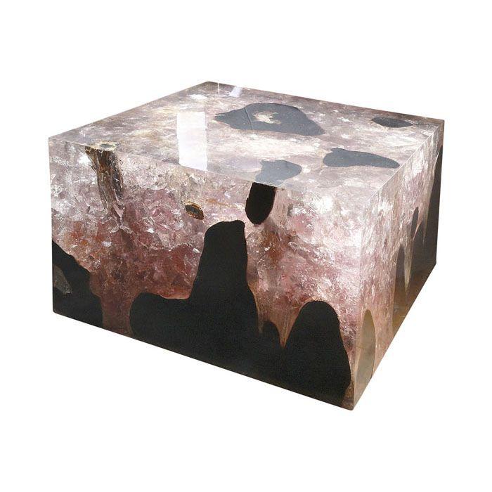 0042 Teak Cracked Resin Coffee Table Andrianna Shamaris Furniture Pinterest Coffee