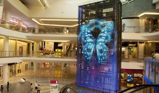 Installation of the Week: Designers Turn 50-Foot Elevator Shaft Into Immense LED Video Wall | Digital Signage Connection