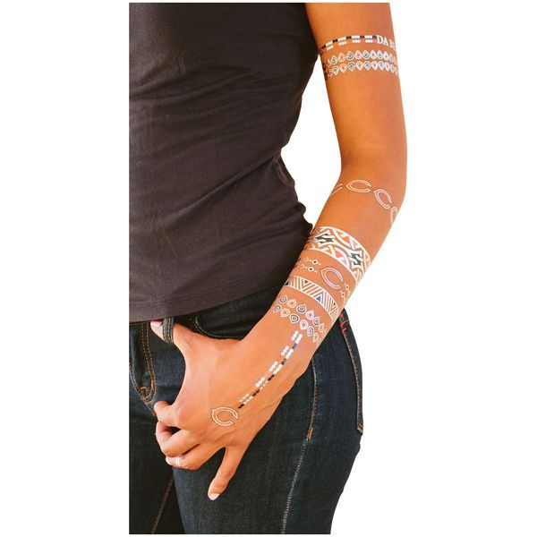 Chicago Bears Metallic Fashion Tattoos - $11.99