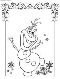 Снеговик Олаф - скачать и распечатать раскраску. Раскраска Раскраски Холодное сердце, раскраски Холодное сердце распечатать, раскраски Дисней