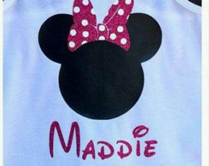Disney camiseta personalizada camiseta Disney-camisa de camisa Disney Disney personalizada con nombre - con monograma camiseta de Disney camiseta Minnie Mouse