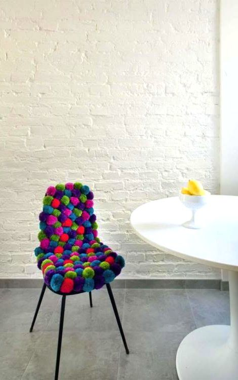 pompons pour chaise ultra confortable